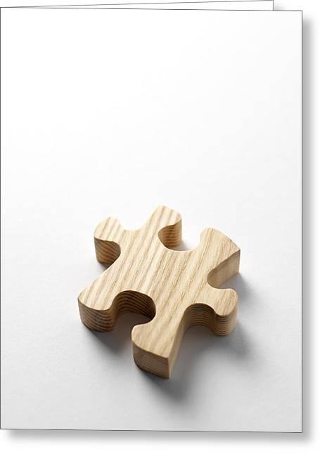 Jigsaw Greeting Cards - Jigsaw Piece Greeting Card by Tek Image