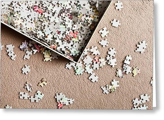 Jigsaw Puzzle Greeting Card by Tom Gowanlock