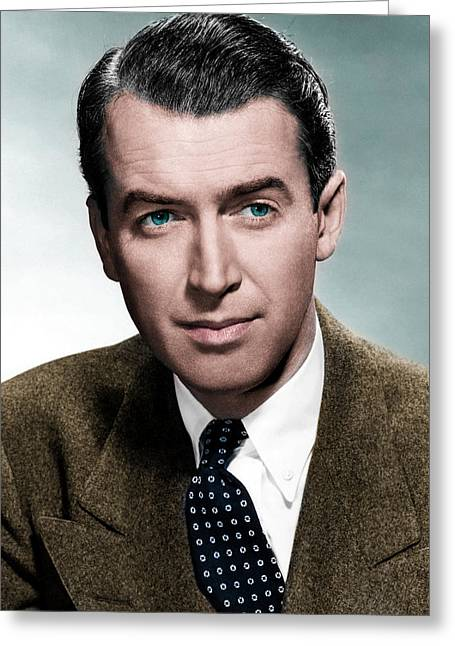 Beloved Greeting Cards - Jimmy Stewart Greeting Card by Iain Logan