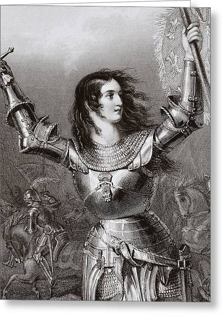 Catholic Drawings Greeting Cards - Joan Of Arc 1412 1431 Aka Jeanne D Arc Greeting Card by Ken Welsh