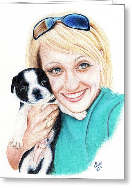 Mike Ivey Greeting Cards - Joanna  Greeting Card by Mike Ivey