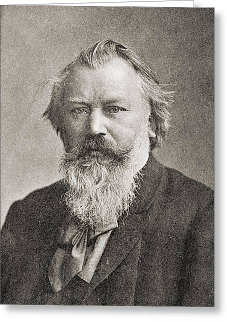 Brahms Greeting Cards - Johannes Brahms, 1833 Greeting Card by Ken Welsh