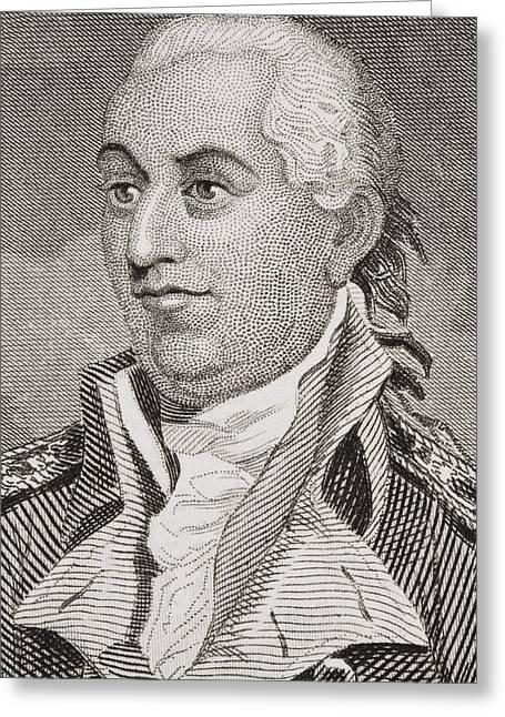 Us Navy Drawings Greeting Cards - John Barry 1745 - 1803. Irish Born Greeting Card by Ken Welsh