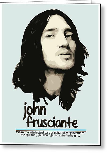 John Frusciante Greeting Card by Semih Yurdabak