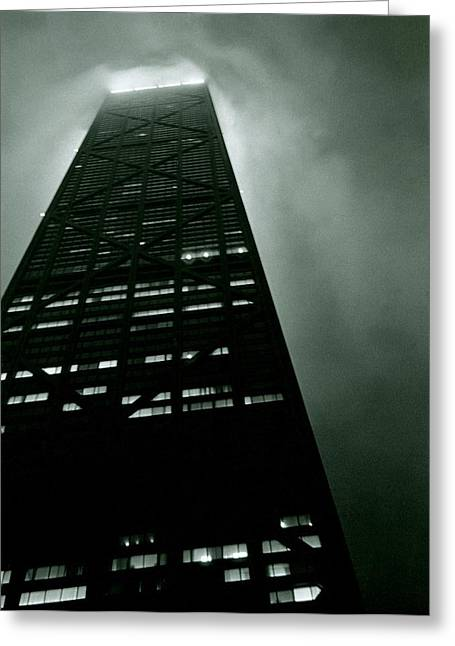 Geometric Photographs Greeting Cards - John Hancock Building - Chicago Illinois Greeting Card by Michelle Calkins