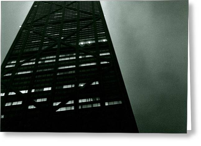 John Hancock Building - Chicago Illinois Greeting Card by Michelle Calkins