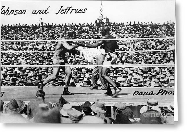 JOHNSON VS. JEFFRIES, 1910 Greeting Card by Granger