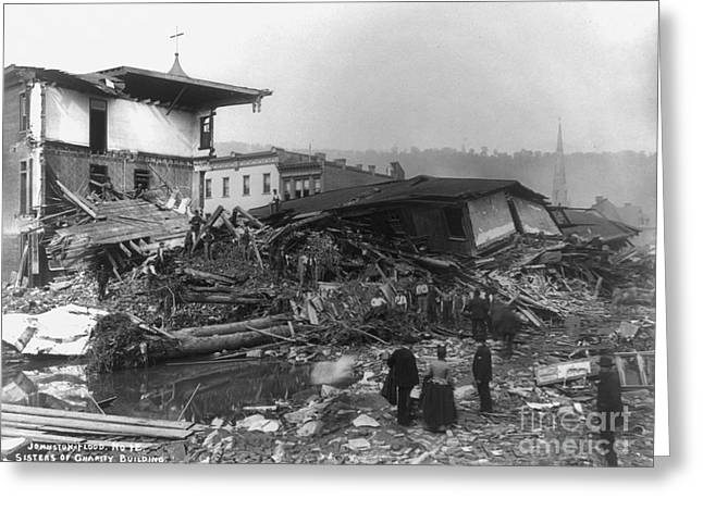 Pennsylvania Photographs Greeting Cards - Johnstown Flood, 1889 Greeting Card by Granger