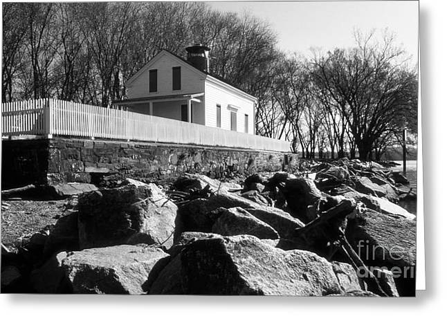 Woodrow Greeting Cards - Jones Point Lighthouse Greeting Card by Skip Willits