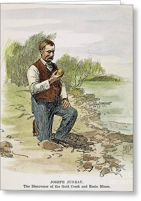 Alaskan Gold Mine Greeting Cards - Joseph Juneau (1826-1899) Greeting Card by Granger