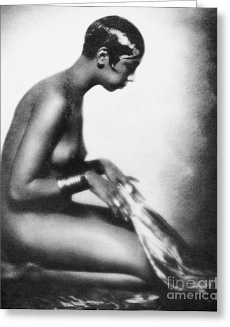 Burlesque Paintings Greeting Cards - Josephine Baker (1906-1975) Greeting Card by Granger