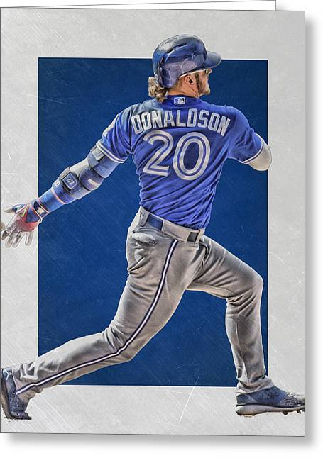 Josh Donaldson Toronto Blue Jays Art Greeting Card by Joe Hamilton