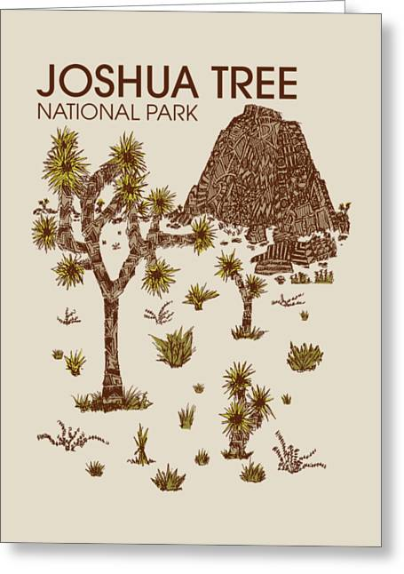 Nationals Greeting Cards - Joshua Tree National Park Greeting Card by Hinterlund