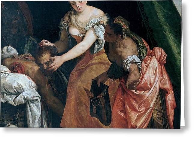 Judith And Holofernes Greeting Card by Paolo Veronese