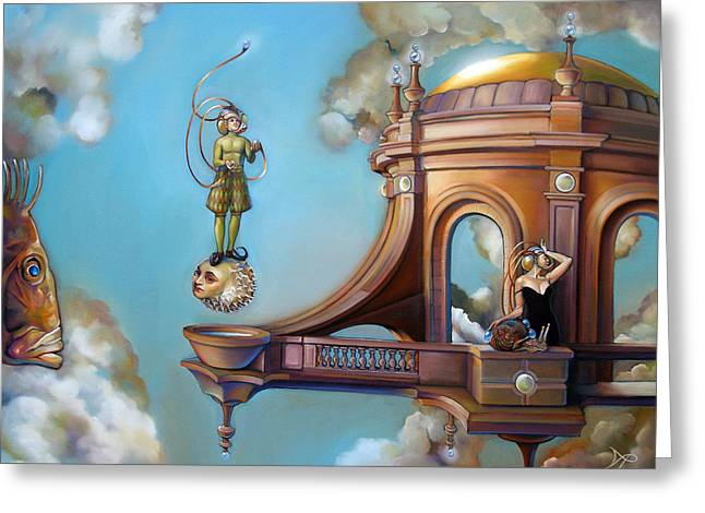 Imaginary Realism Greeting Cards - Jugglernautica Greeting Card by Patrick Anthony Pierson