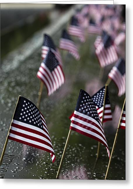 4th July Greeting Cards - July 4 2015 World Trade Center Memorial Greeting Card by Robert Ullmann