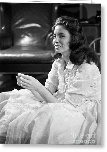 June Carter, 1956 Greeting Card by The Phillip Harrington Collection
