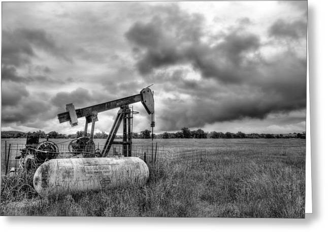 Kansas Oil Greeting Card by JC Findley