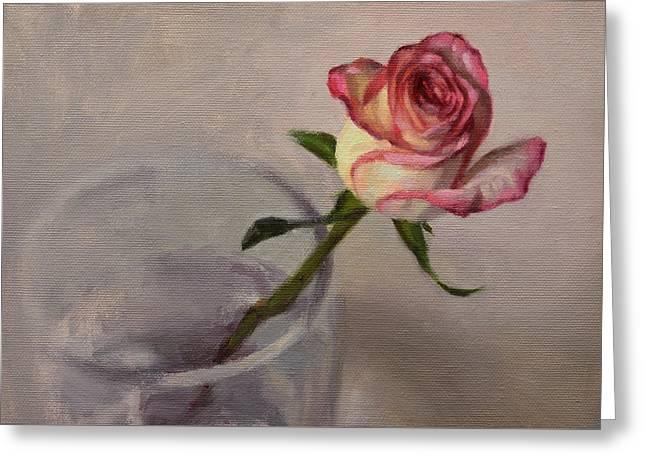 Single Rose Greeting Cards - Kathy Rose Greeting Card by Ben Hubbard