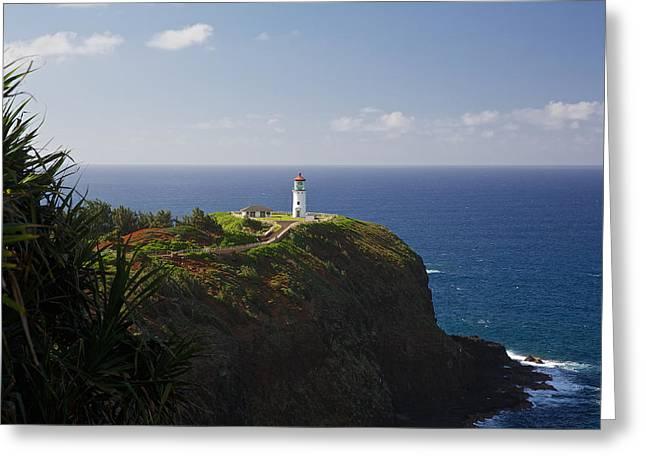 Hyatt Hotel Greeting Cards - Kauai Lighthouse Greeting Card by Steven Lapkin