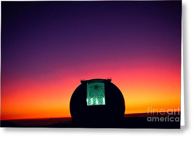 Keck Observatory Greeting Card by Peter French - Printscapes