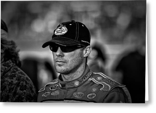 Kevin Harvick Nascar Greeting Card by Kevin Cable