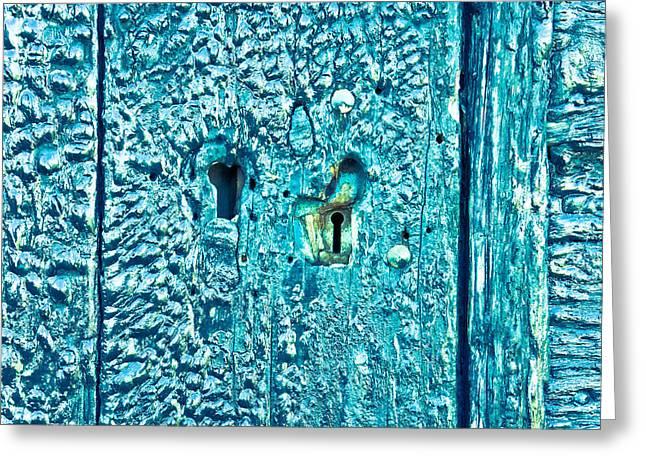 Peeking Greeting Cards - Keyhole Greeting Card by Tom Gowanlock