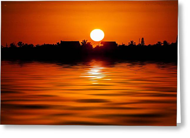 My Ocean Greeting Cards - Keys Sunset  Greeting Card by Kevin Cable