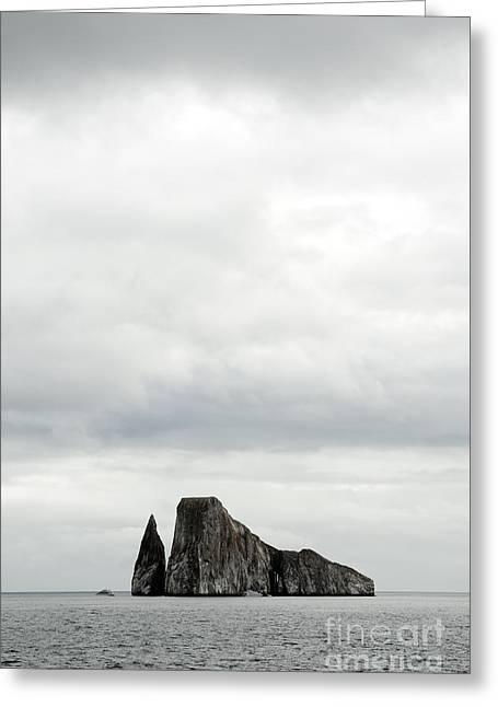Colorful Cloud Formations Greeting Cards - Kicker rock, San Cristobal Island, Galapagos, Ecuador Greeting Card by Terry Davis