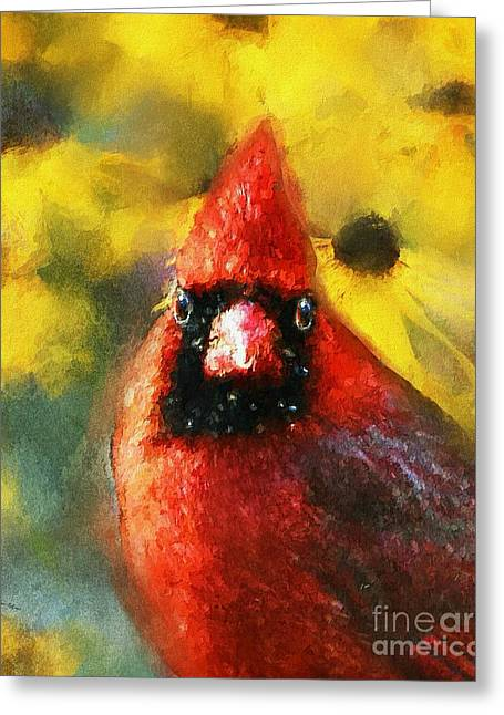 Print Photographs Greeting Cards - King Cardinal Greeting Card by Tina  LeCour