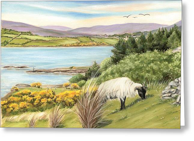 King Of The Hill Greeting Card by Vanda Luddy