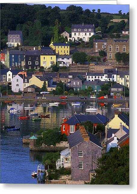 Recently Sold -  - Roadway Greeting Cards - Kinsale, Co Cork, Ireland Boats And Greeting Card by The Irish Image Collection