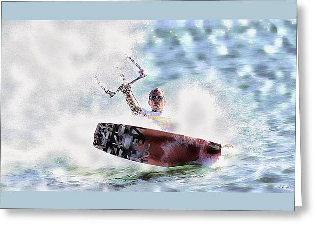 Kitesurf  Greeting Card by Jean Francois Gil