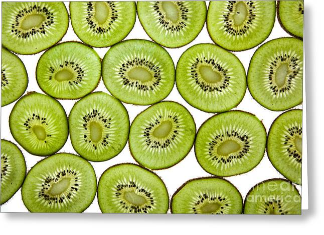 Vitality Greeting Cards - Kiwifruit Greeting Card by Nailia Schwarz