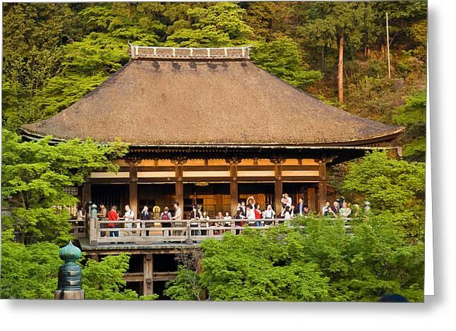 Kyoto Greeting Cards - Kiyomizudera Temple Greeting Card by Sebastian Musial