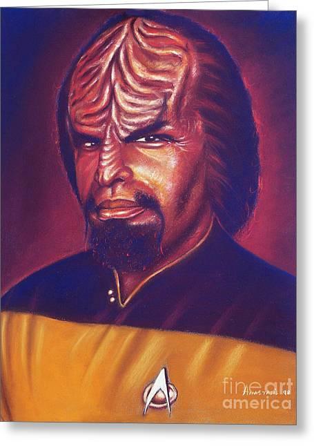 Startrek Greeting Cards - Klingon Star Trek Greeting Card by Anastasis  Anastasi