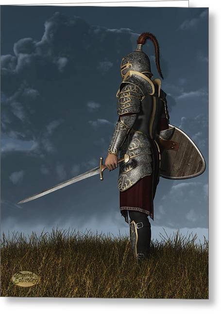 Knighted Greeting Cards - Knight of the Storm Greeting Card by Daniel Eskridge