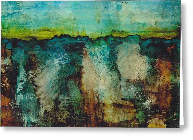 Alcohol Inks Greeting Cards - Know Your Limits Greeting Card by Louise Lamirande