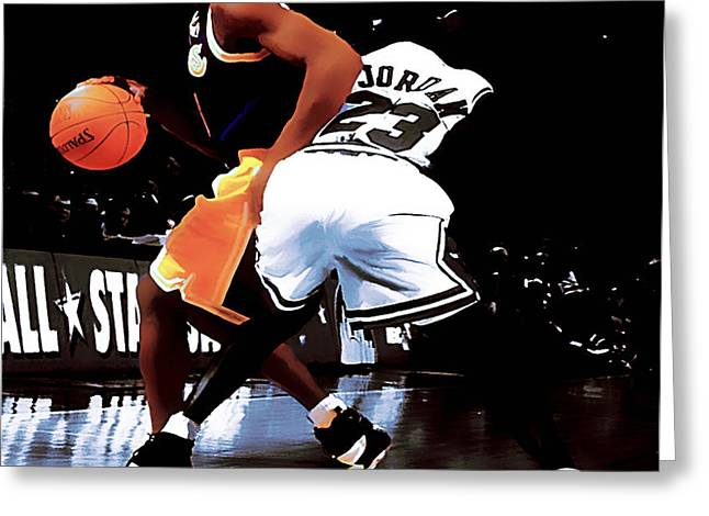 Kobe Spin Move Greeting Card by Brian Reaves