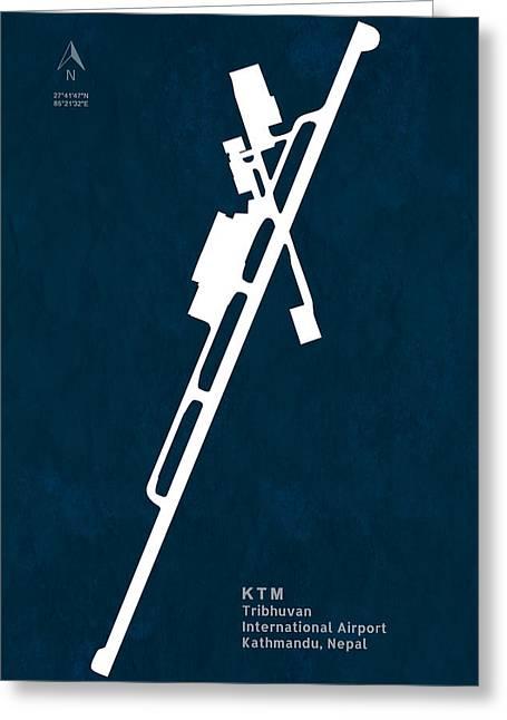 Ktm Greeting Cards - KTM Tribhuvan International Airport in Kathmandu Nepal Runway Si Greeting Card by Jurq Studio