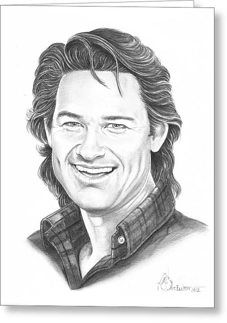 Kurt Russell Greeting Card by Murphy Elliott