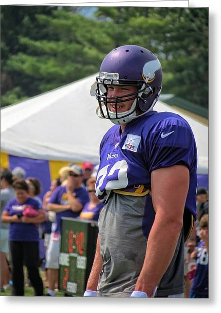 Rudolph Greeting Cards - Kyle Rudolph Greeting Card by Kyle West