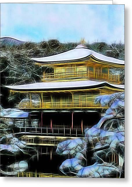 Kyoto Mixed Media Greeting Cards - Kyoto Temple Collection Greeting Card by Martial Arts  Fine Art