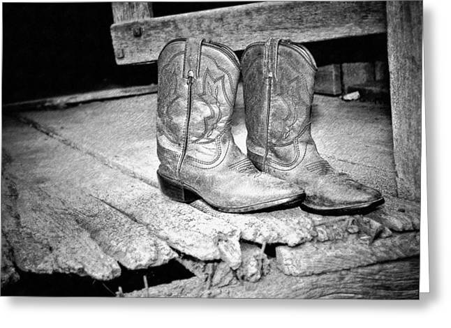 Western Boots Greeting Cards - Kys Boots Greeting Card by Kathy Jennings