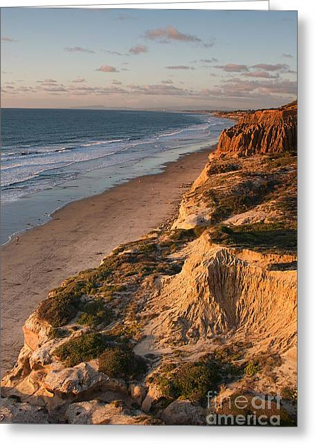 Elite Image Photography By Chad Mcdermott Greeting Cards - La Jolla California Sunset Coast at Torrey Pines State Park Greeting Card by ELITE IMAGE photography By Chad McDermott