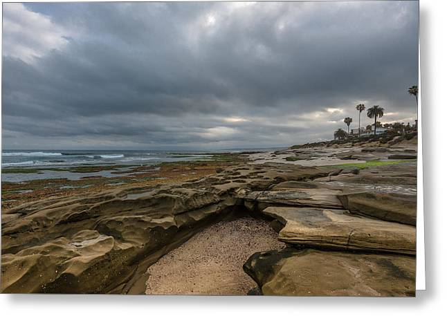 Storm Clouds Greeting Cards - La Jolla Morning Greeting Card by Joseph Smith