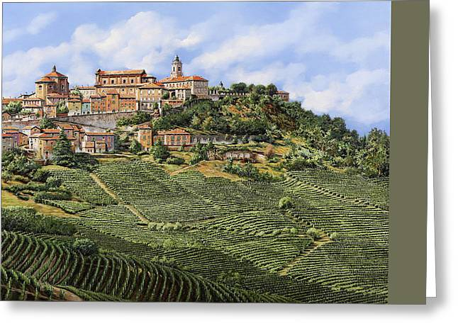 Hotel Greeting Cards - La Morra Greeting Card by Guido Borelli