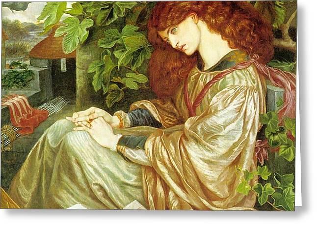 La Pia De Tolomei Greeting Card by Dante Gabriel Rossetti