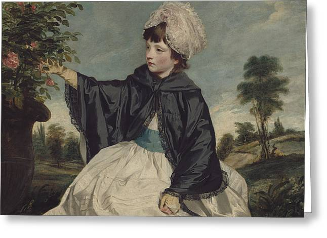 Lady Caroline Howard Greeting Card by Sir Joshua Reynolds