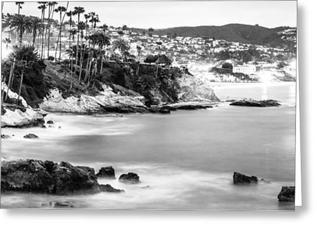 Laguna Beach California Panoramic Photo Greeting Card by Paul Velgos